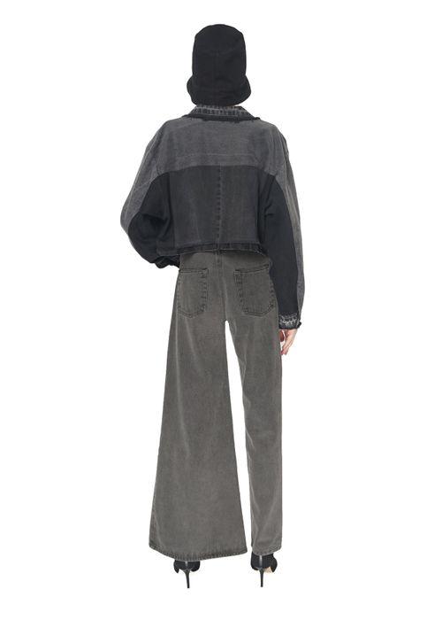Cropped Reworked Black Jacket
