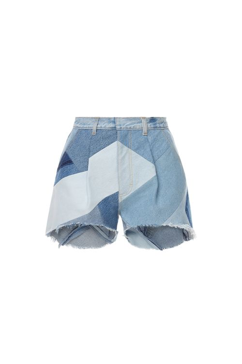 Reworked Diagonal Patchwork Shorts