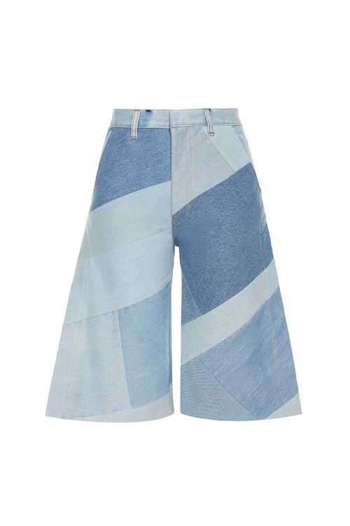 Reworked Diagonal Patchwork Bermudas