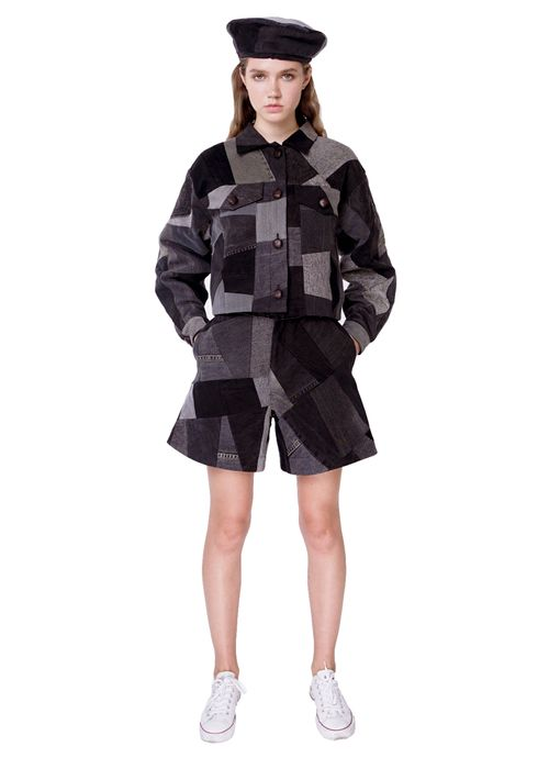 Black Patchwork Jacket