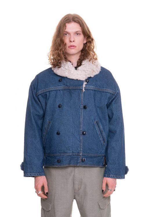 Hemp Fur Denim Winter Jacket