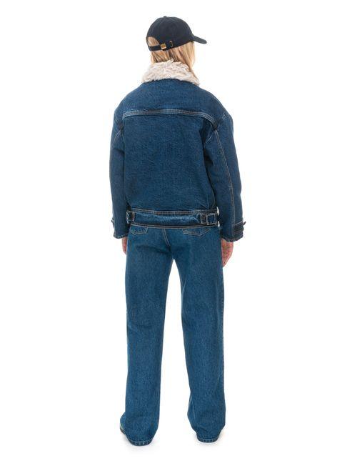 Hemp Fur Denim Winter Jacket with Liner