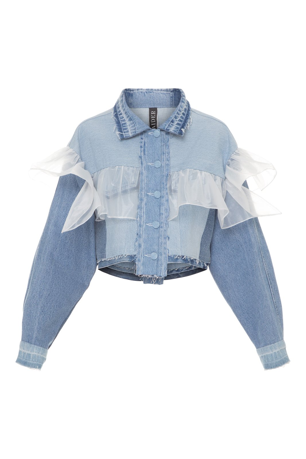 Reworked Denim Cropped Jacket