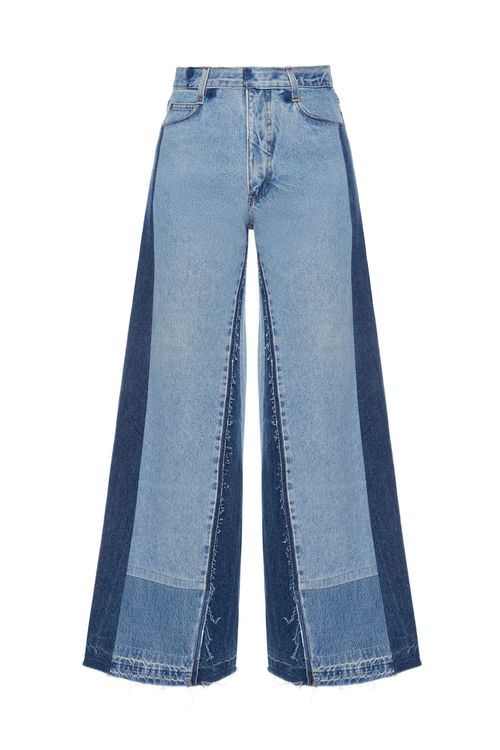 Reworked Patchwork Wide Jeans
