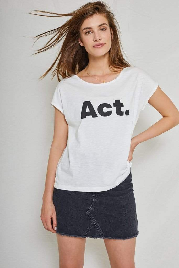 Violet Act Boxy Tee Cloud Dancer