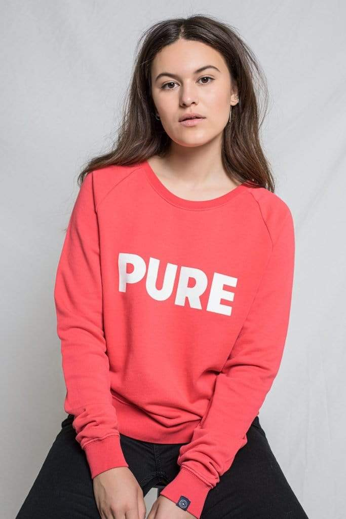 Ruby Pure Round Neck Sweat Reddish Reddish