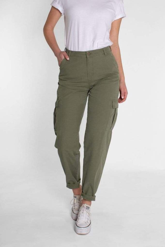 Lara Cargo Army Green