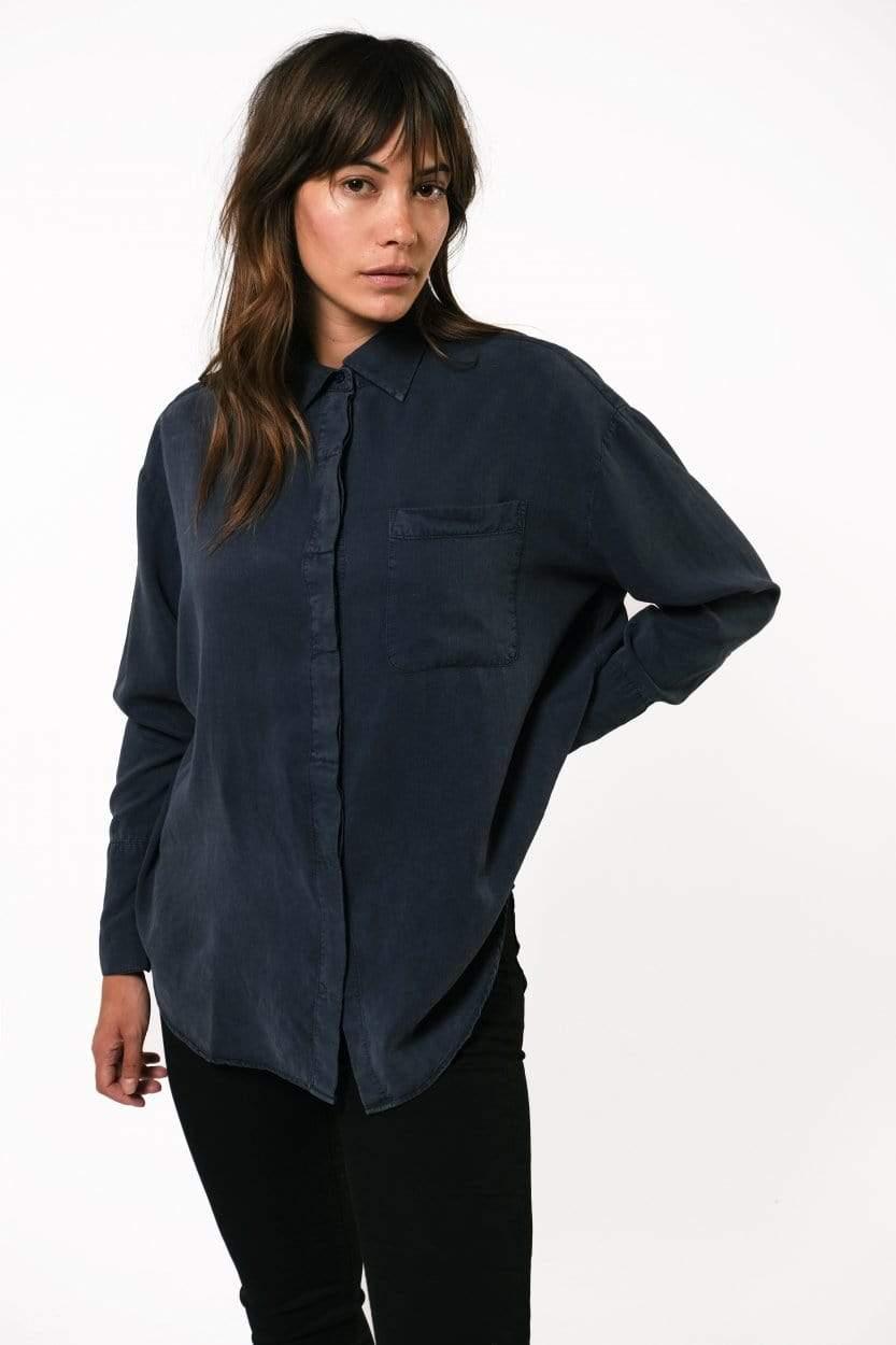 Mia Tencel Shirt Dark Navy