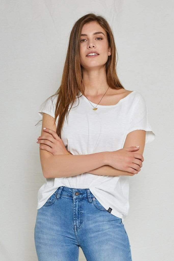 Violet Basic Boxy Tee Cloud Dancer