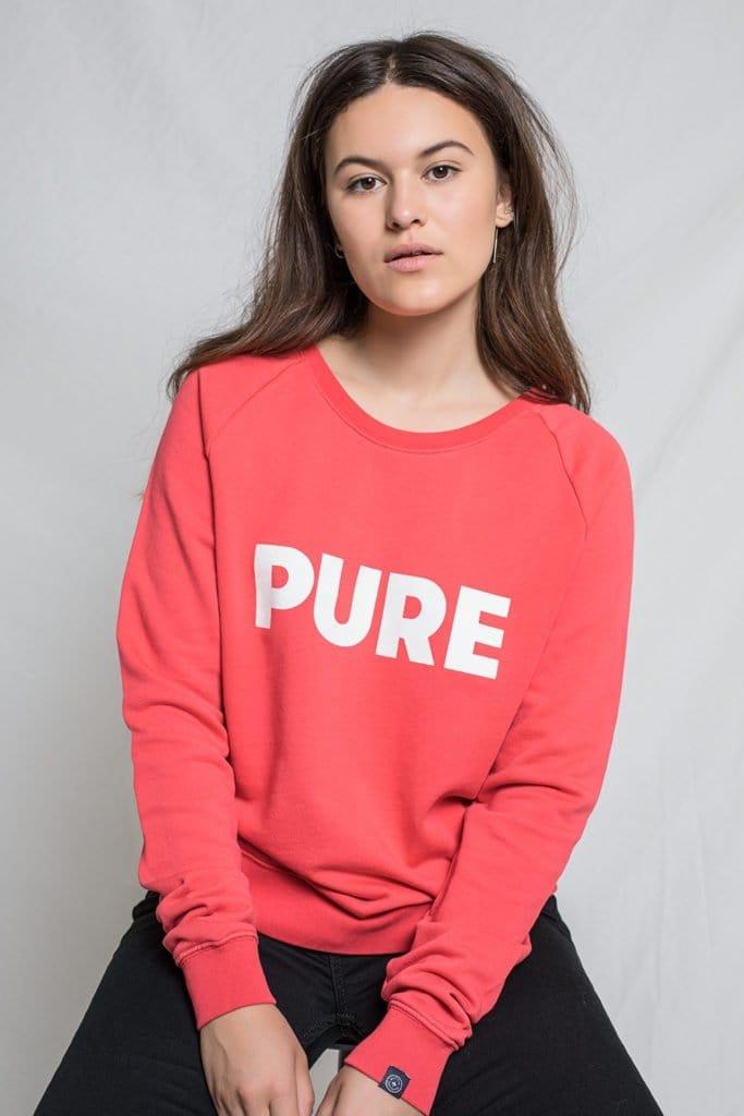 Kuyichi Ruby Pure Round Neck Sweat Reddish