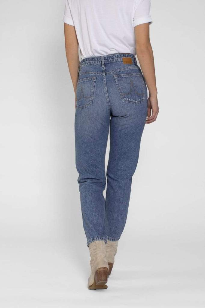 Nora Loose Tapered Medium Blue Repaired Medium Blue Repaired