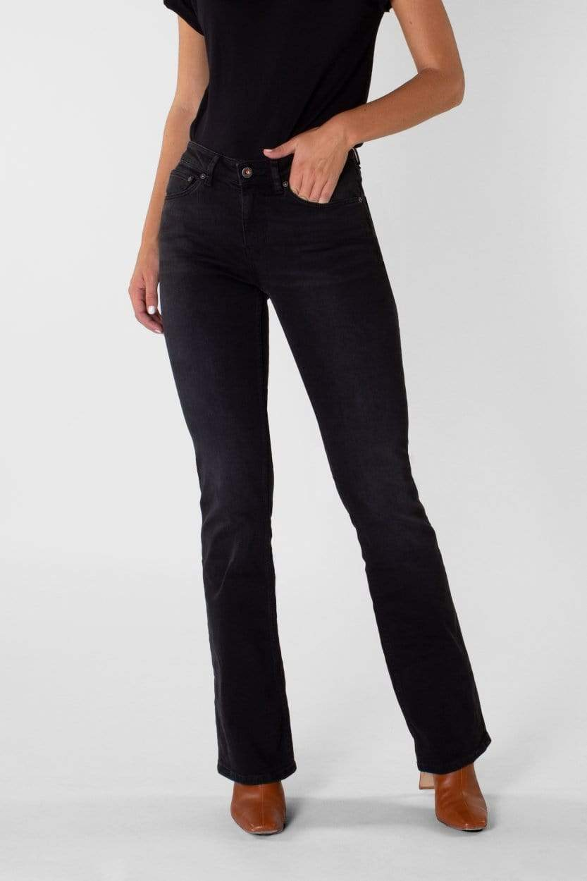 Amy Bootcut Faded Black