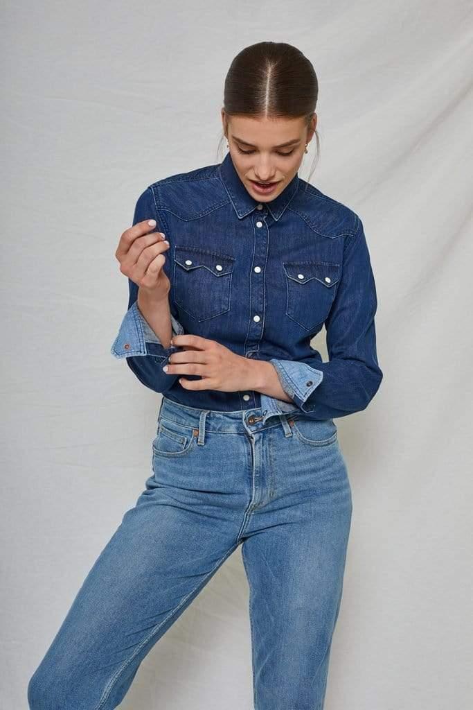 Sawtooth Shirt Worker Blue Women