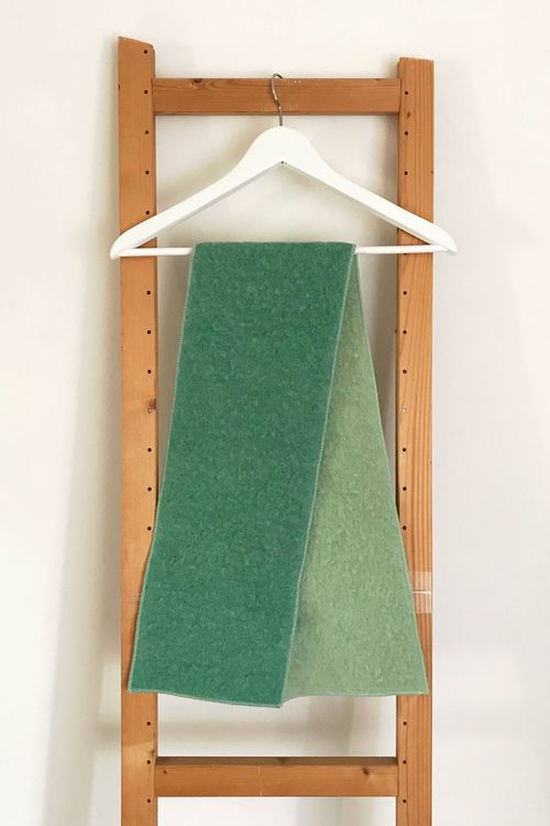 Double Mint Upcycled Wool Scarf