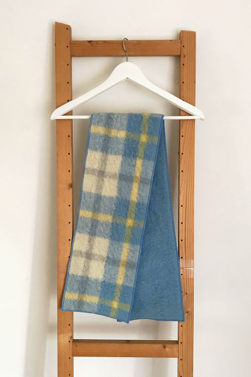 Blue Sophia Upcycled Wool Scarf