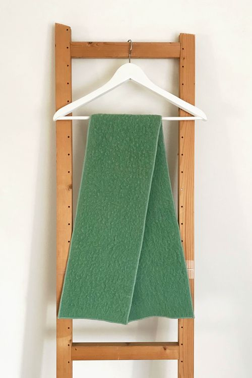 Mild Mint Upcycled Wool Scarf