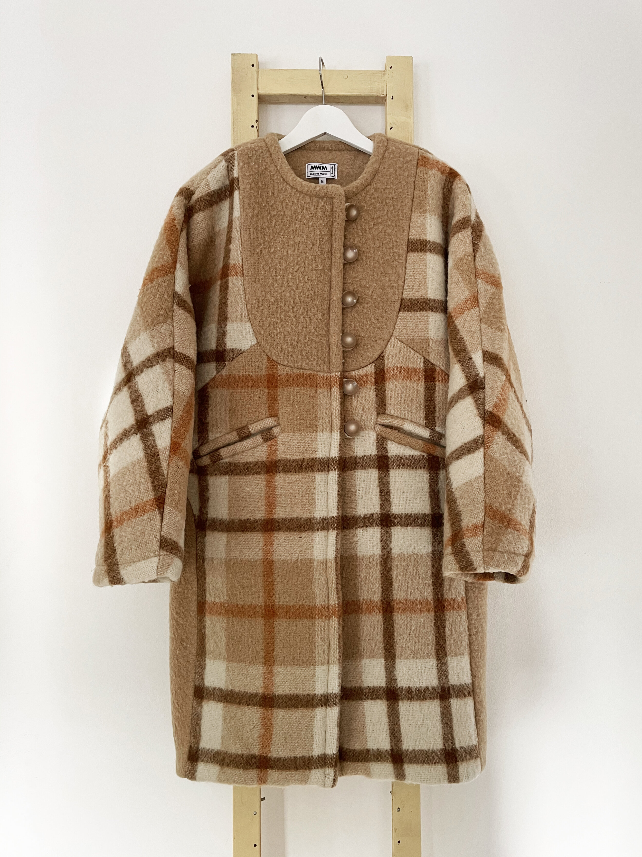 Brown Sophia Long Wool Coat