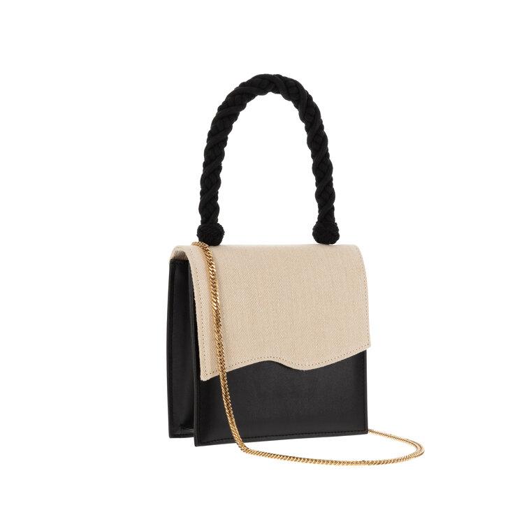 Iris Black and White Sustainable Handbag