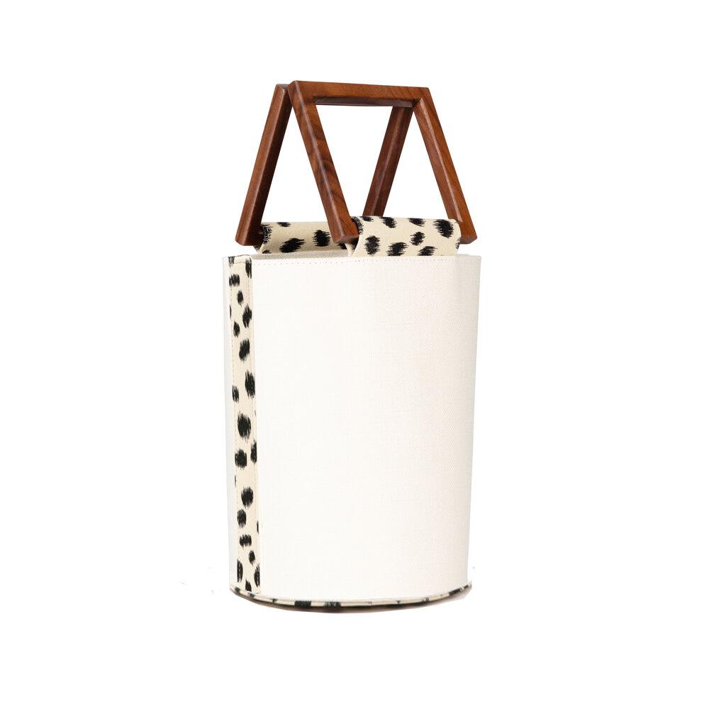 Anais Hemp and Leopard Handbag