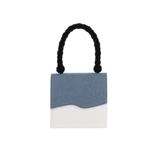 Iris Blue and White Sustainable Handbag