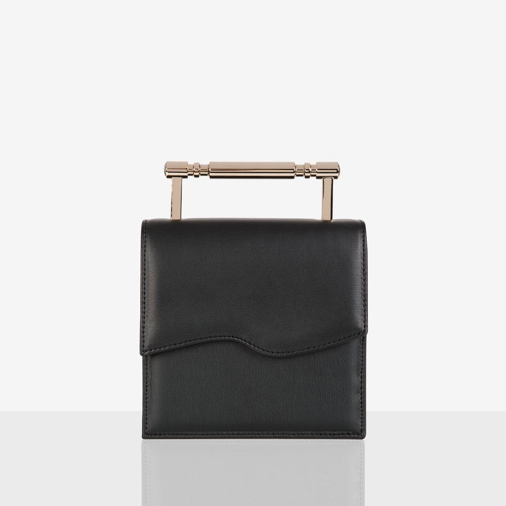 Iris Black and Gold Sustainable Handbag