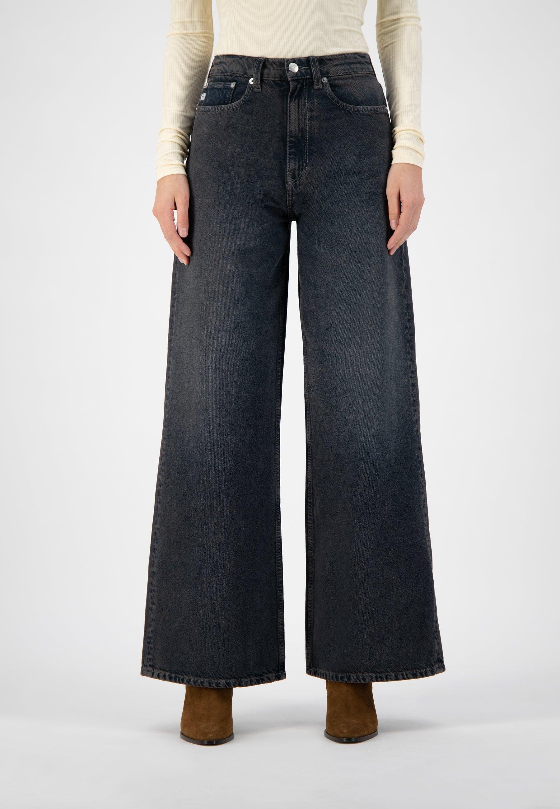 Mud Jeans Wyde Sara - Heavy Black Stone