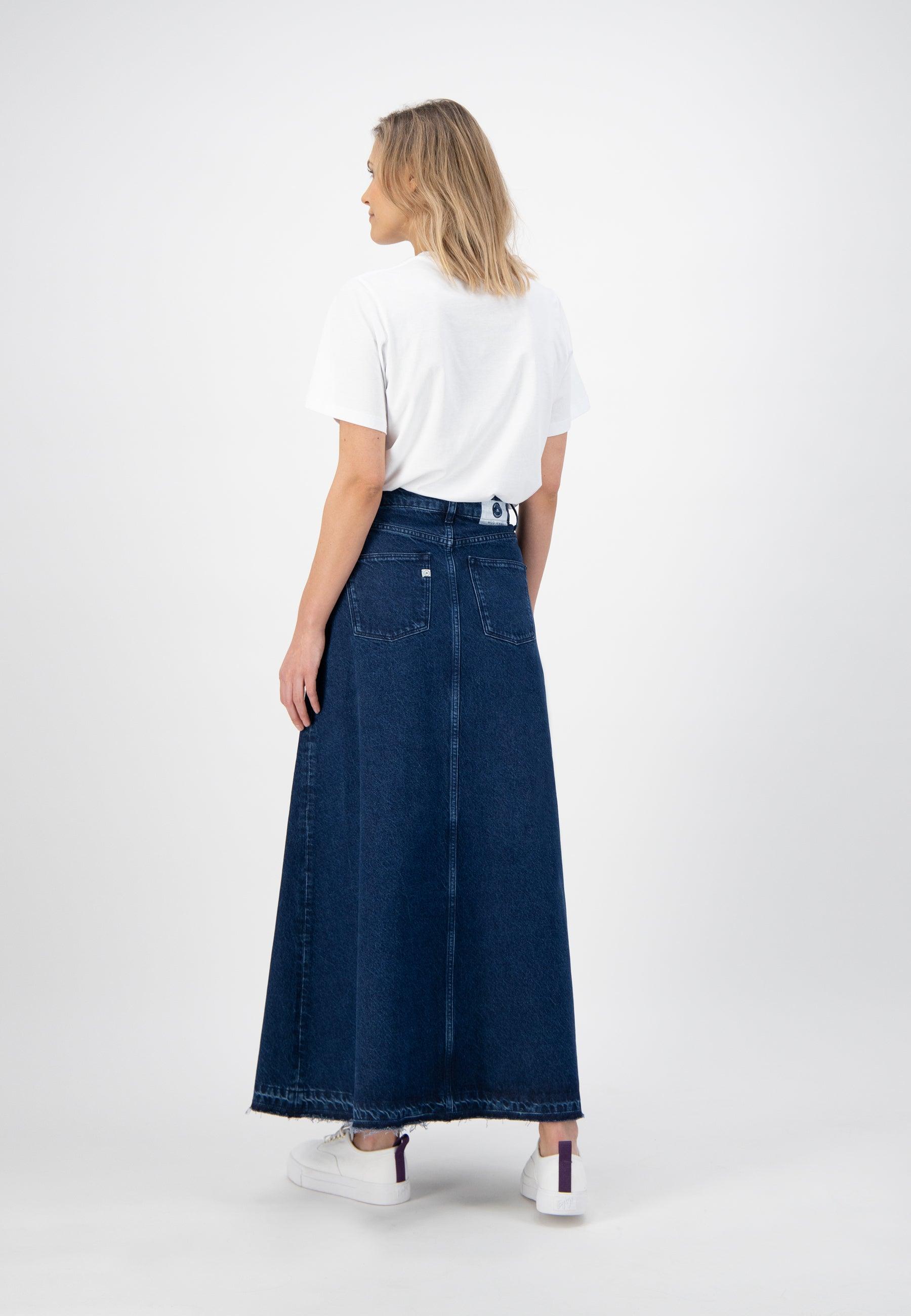 Mud Jeans Maksi Skirt - Stone Indigo