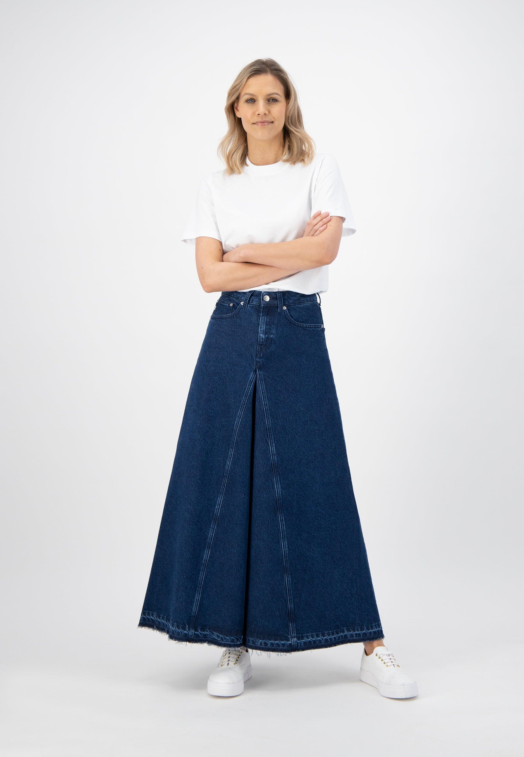 Maksi Skirt - Stone Indigo