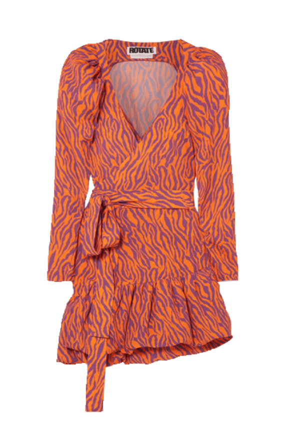 Mini dress with zebra print