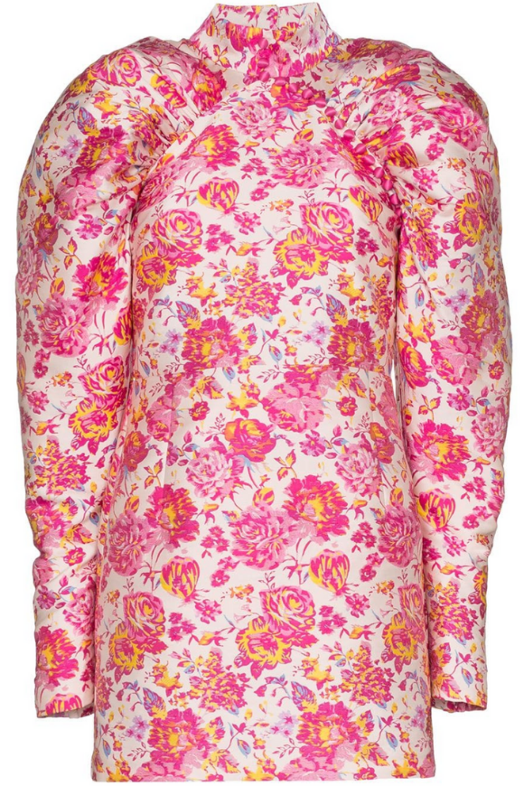 Floral dress with puff sleeves