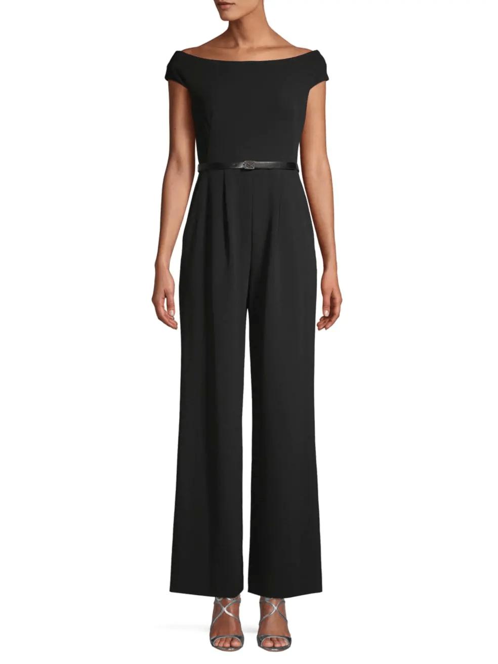 Black off-shoulder jumpsuit