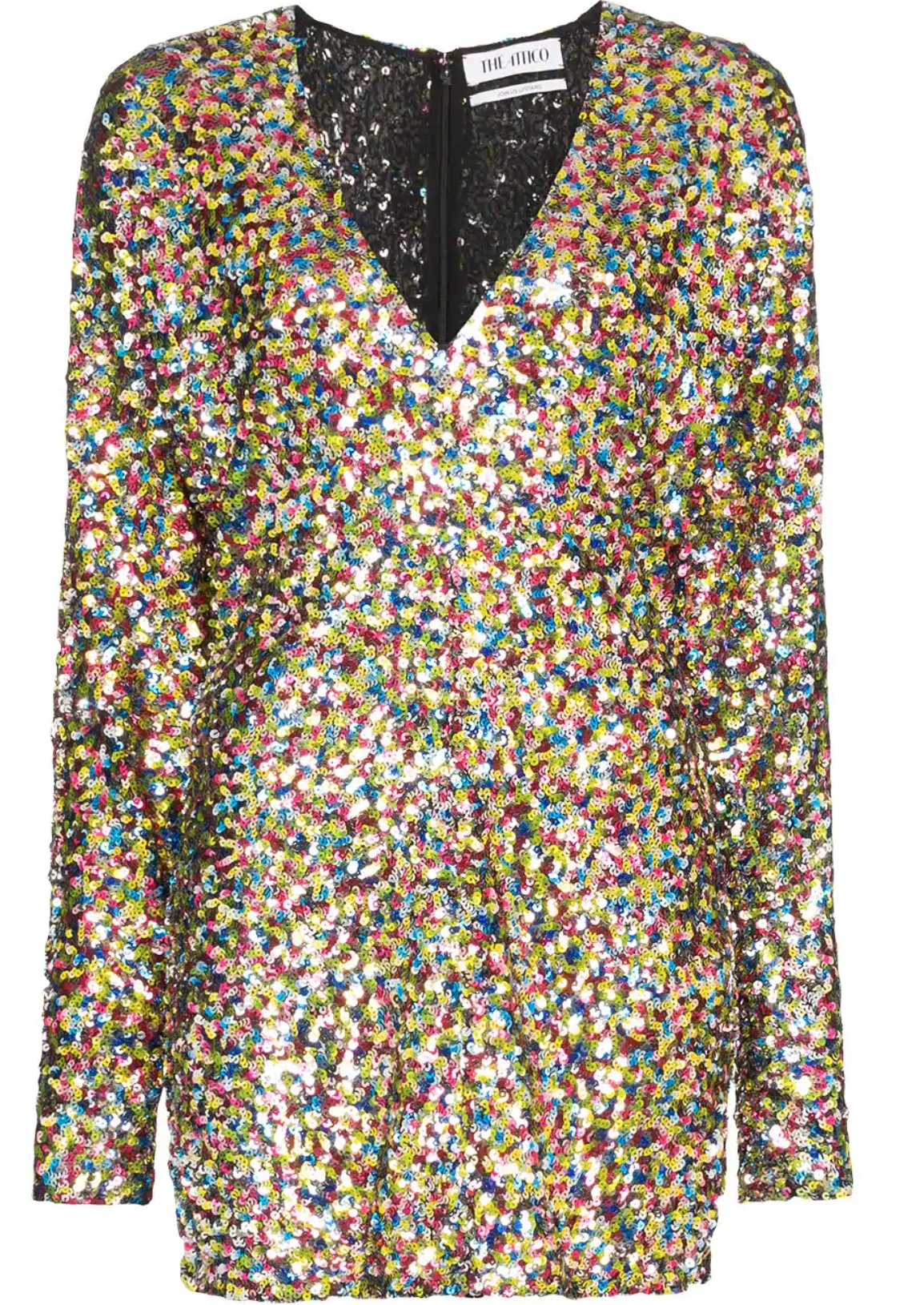 Multicolored sequin dress
