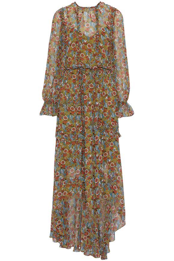 Sage chiffon maxi dress