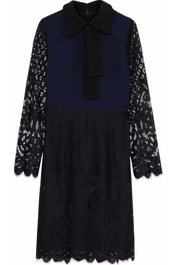 Crepe & silk dress