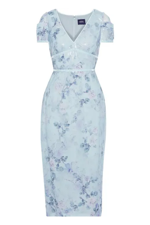 Floral print crepe dress