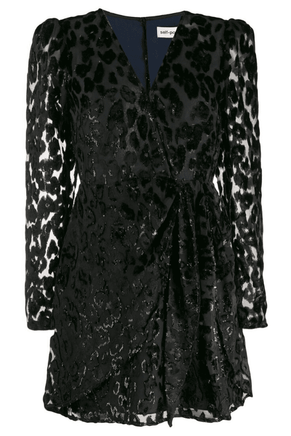 Cocktail dress with leopard print