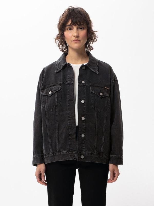 Nudie Jeans Elin Black Trace Denim Jackets X Small