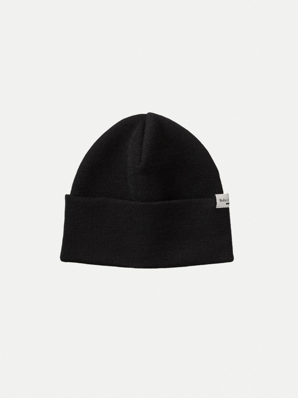Nudie Jeans Jansson Beanie Black Hats One Size