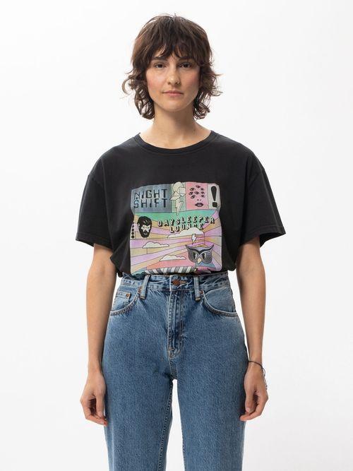 Nudie Jeans Tina Daysleeper Black T-shirts X Small