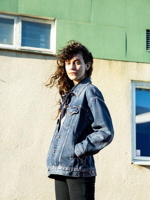 Nudie Jeans Elin Blue Maze Denim Jackets X Small