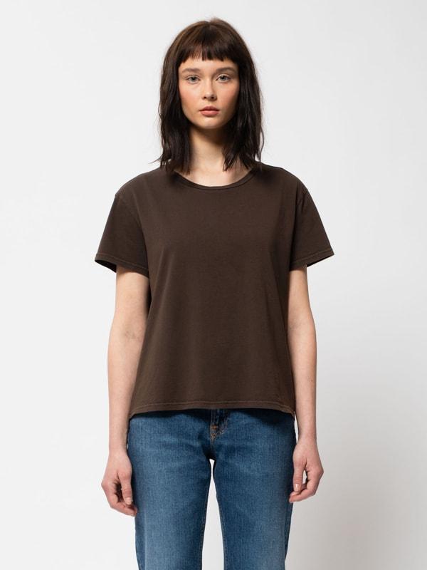Nudie Jeans Lisa Tee Brown T-shirts X Small