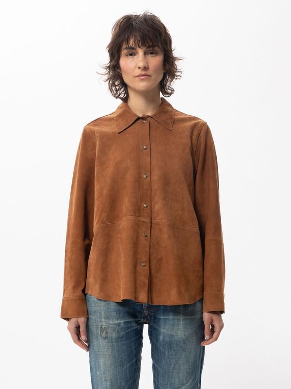Nudie Jeans Gabriella Suede Cinnamon Shirts X Small