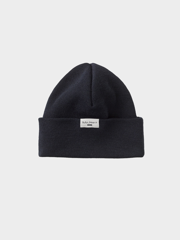 Nudie Jeans Jansson Beanie Navy Hats One Size