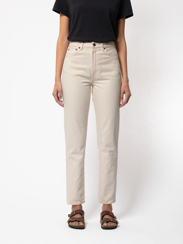 Nudie Jeans Breezy Britt Dusty White Jeans W25/L28