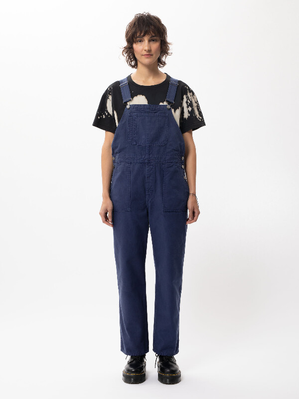 Nudie Jeans Karin Dungarees Blue Touch Jeans X Small