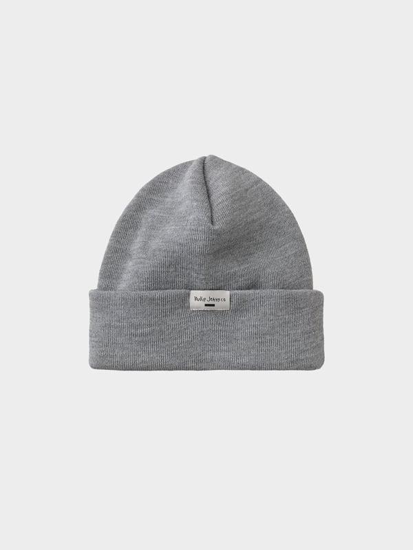 Nudie Jeans Jansson Beanie Greymelange Hats One Size
