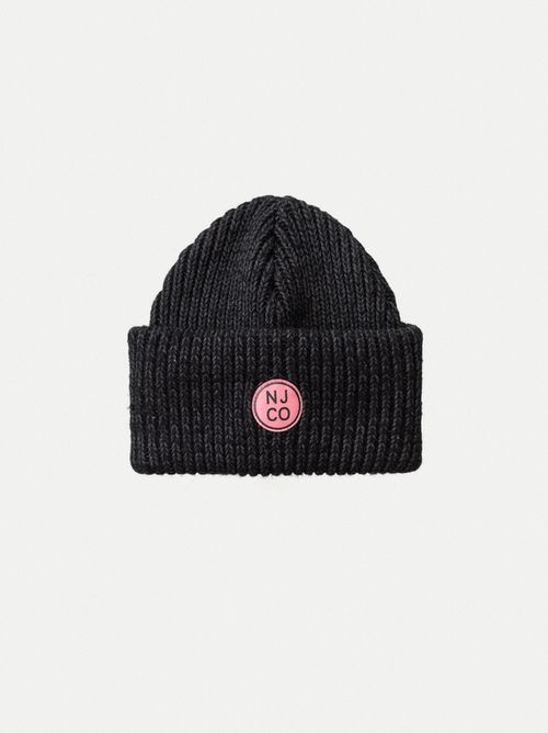 Nudie Jeans Edisson Beanie Black Hats One Size
