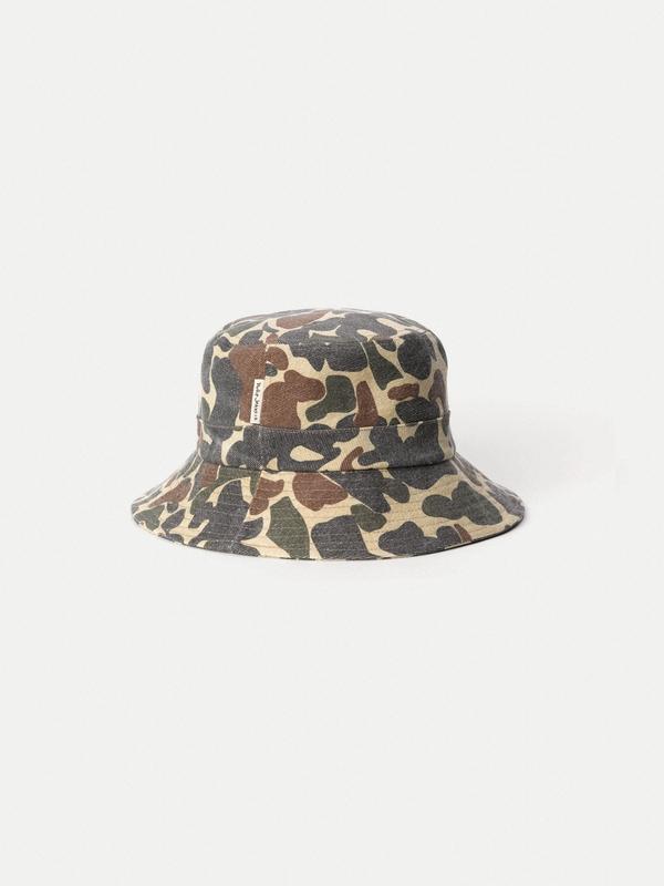 Nudie Jeans Martinsson Safari Hat Camo Multi Hats One Size