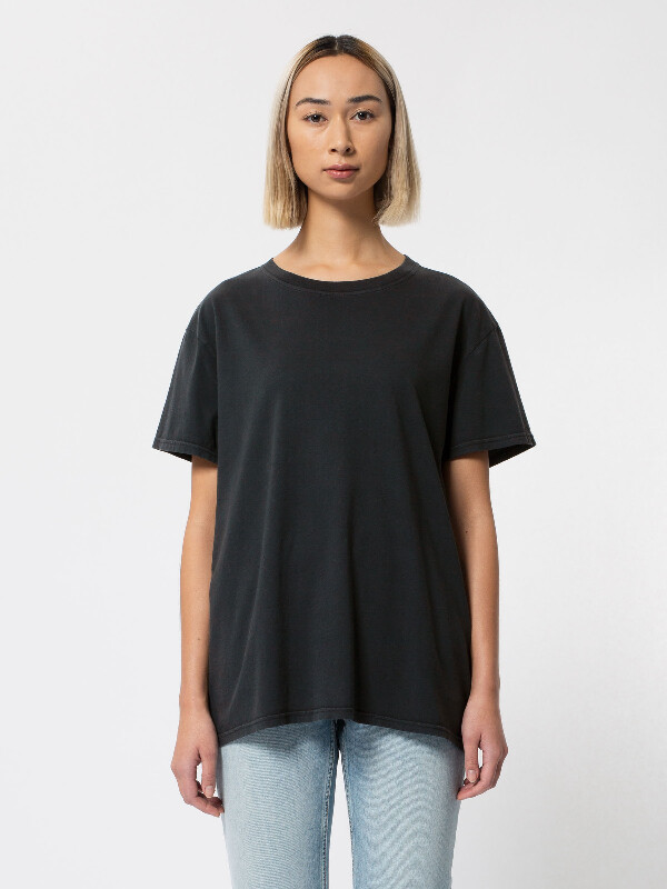 Nudie Jeans Tina Tee Antracite T-shirts Small