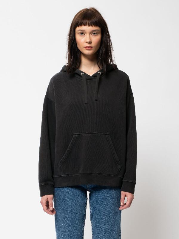 Nudie Jeans Stina Hoodie Black Sweatshirts X Small